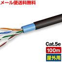 【送料無料】屋外用 LANケーブル 100m Cat5e (カテゴリ5e 巻きケーブル)(e7820)○ [C]