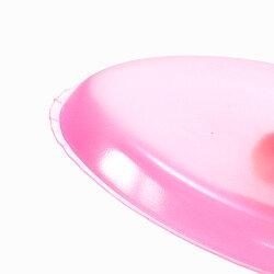 シリコンパフ[3個セット]ケース付き涙型しずく型ピンク/クリアリキッドファンデーションコンシーラーBBクリームメイク◆