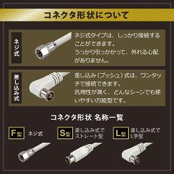 (4K/8K対応)アンテナケーブル(3m)F+F型S-4C-FB地上デジタル地デジBSCS(メール便送料無料)ycm3