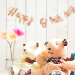 バースデーレターバナーガーランド誕生日パーティー飾りお祝い飾り付けHAPPYBIRTHDAYパーティーグッズ選べる書体3フォント4色オリジナルデザイン