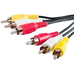 【メール便送料無料】AVケーブル1.5m(RCA×3本黄白赤)(映像・音声ケーブルAVコード3色ケーブル)(e4091)
