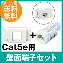 Cat5e 壁面端子セット Cat.5e RJ45 LAN用ジャック +壁面取付枠 (LANケーブル インターネット配線 パナソニック)(e3510A5035)...