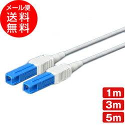 光ファイバー シングルモード用 [シャッター付] 両端SCコネクタ SPC研磨 耐圧ケーブル採用【1m 3m 5m】(光ファイバーケーブル 光ケーブル 光コード 光パッチケーブル)(e1513) ycm3