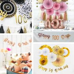 [100日&ハーフ対応]バースデーレターバナーガーランド誕生日パーティー飾りお祝い飾り付けHAPPYBIRTHDAYハーフバースデー100days100日祝い選べる3種類2色オリジナルデザイン(メール便送料無料)
