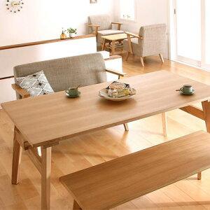 ダイニング テーブル 4人用 ブラウン 幅:150cm〜159cm 奥行き:80cm〜89cm 高さ:60cm〜69cm カントリー クラシック シンプル ベーシック モダン 無地 木 角型 茶 ブラウン 長方形 かわいい おしゃれ