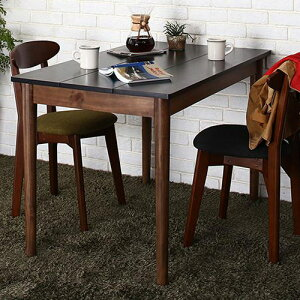 ダイニング テーブル 木脚 ブラック ブラウン 幅:60cm〜69cm 奥行き:60cm〜69cm 高さ:70cm〜79cm キャスター無し 既成品 クラシック シンプル ナチュラル ベーシック モダン レトロ 無地 木 角型