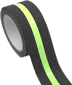 蛍光 蓄光 滑り止めテープ 幅50mm 長さ5m 屋外 屋内 階段 床 転倒防止 ノンスリップ 光る