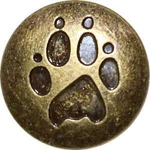 バネ ホック ボタン 15mm かわいい 肉球柄 スナップボタン レザークラフト DIY 手芸用パーツ SW51ゴールド10個セット(ゴールド「10個」セット)