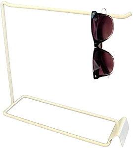サングラス スタンド ラック ディスプレイ 眼鏡 メガネ 展示ラック アクセサリ(ホワイト)