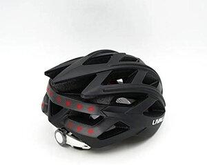 BLACK 自転車 ヘルメット LEDライト 方向指示器 3軸センサー 安全アラート ブルートゥース 音楽視聴 電話機能 トラン シーバー GPSナビゲーション(黒55cm-61cm)