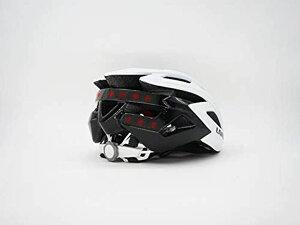 WHITE 自転車 ヘルメット LEDライト 方向指示器 3軸センサー 安全アラート ブルートゥース 音楽視聴 電話機能 トラン シーバー GPSナビゲーション(白55cm-61cm)