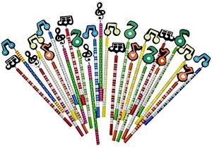 音符 鉛筆 セット 子供 プレゼント ギフト 鍵盤 カラフル 景品(24本セット)