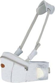 ウエストキャリー 抱っこ紐 ヒップシート 首ベルト付き 子供 赤ちゃん 軽量(グレー)