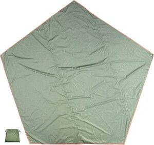 5角形 グランドシート ペンタゴンタープ キャンプ フットプリント グリーン, 400(グリーン)