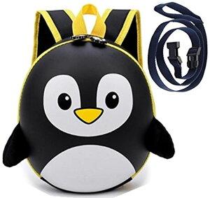 飛び出し防止 リード 付き クール ペンギン ベビー リュック 子供 赤ちゃん 一升餅 迷子紐 ハーネス(黒)
