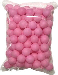 ピンポン玉 娯楽用 卓球ボール プラスチック 無地 ピンク 100個(17 ピンク x 100個, 40mm)