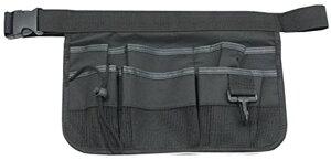 エプロンバッグ ウエストポーチ 仕事 作業用 多機能 道具袋 小物収納(ブラック)