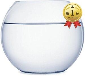ガラス 花瓶 テラリウム 観葉植物 インテリア アクアリウム 金魚鉢 にも(18cm)