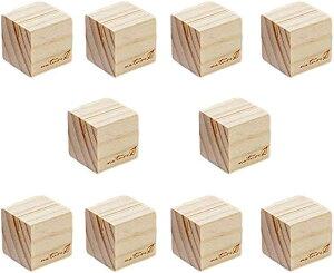 カードスタンド メモスタンド メモホルダー 木製 写真立て メモクリップ オフィス デスク 机上用品 文房具(キューブ10個)