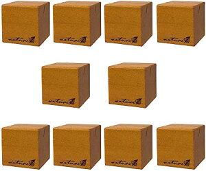 カードスタンド メモスタンド メモホルダー 木製 写真立て メモクリップ オフィス デスク 机上用品 文房具 ブラウン(キューブ10個(ブラウン))