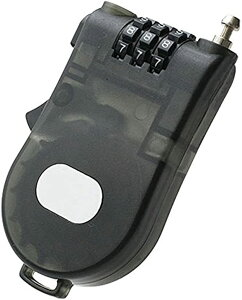 ハンディワイヤーロック ダイヤルロック 暗証番号 カギ 旅行 便利用品 防犯対策 トラベル TG100(ブラック)
