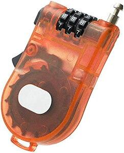 ハンディワイヤーロック ダイヤルロック 暗証番号 カギ 旅行 便利用品 防犯対策 トラベル TG100(オレンジ)