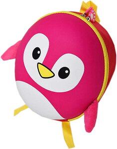 子供リュック リード 付き ペンギン ベビー 赤ちゃん 一升餅 迷子紐 ハーネス(ピンク)