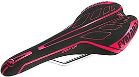 morytrade サドル 自転車 ロード MTB ピスト シクロクロス トラック バイク 軽量 レース(ピンク)