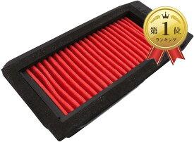 セロー250 トリッカー XT250X エアクリーナーエレメント エアフィルター(赤)