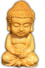 ナギ・サウンド 如来 像 木彫り 置物 仏 釈迦 お守り インテリア 仏壇 小叶 ツゲ