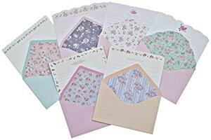 花柄 レターセット フラワー 小花柄 封筒 便箋(6種類)