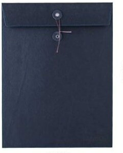 A4 書類 高級感 持ち運び ケース 契約書 革製品 レザー 合皮 ビジネス(紺)