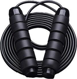 ヘビーロープ 重さ 400g 筋トレ 縄跳び スポーツ 筋力 トレーニング なわとび(ブラック)