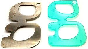 レザークラフト用 縁取り R定規 切り出し 型紙 革細工 ホビー 工具 趣味 ステンレス アクリル 2枚セット