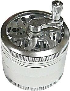 高級アルミ製 ハンドル付 手巻きタバコ用 たばこミキサー アルミグラインダー