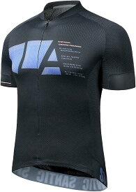 メンズ サイクルジャージ 半袖 サイクルウエア 自転車サイクルウエア 吸汗速乾 通気 紺色 XXL(ネイビー, 2XL)