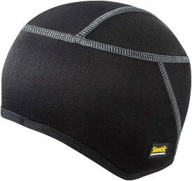 メンズ サイクルキャップ 裏起毛 防寒 ヘルメット インナー 自転車 登山(ブラック-9005)