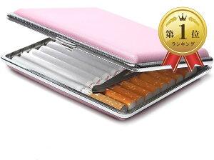 シガレットケース キングサイズ タバコ20本収納 レザー タバコケース PU革(ピンク, 20本)