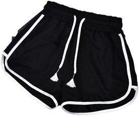 ジーティアモ ショート パンツ レディース フィットネス ジム ヨガ ジョギング ランニング ルーム ウェア スポーツ 短パン 運動 たんぱん ボトムス 黒 くろ 紺 こん 灰色 かわいい カワイイ 可愛い おしゃれ 春(ブラック, XL)