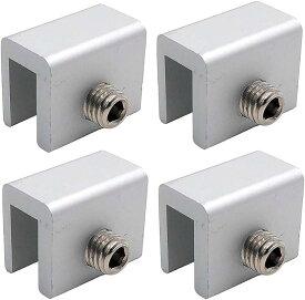 強力。窓 ロック 4個セット サッシ ストッパー 工具付き 補助錠 ベランダ 鍵 防犯 徘徊 対策 SZK0489(シルバー)