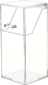 メイクブラシケース コスメ収納 メイクブラシホルダー ふた付き スタンド 収納ボックス メイクボックス アクリルケース 化粧品 卓上 収納ケース 化粧ブラシ クリア 透明(クリアー)