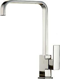 SK41 キッチン用 L型 混合水栓 シンク 台所 厨房 手洗いボウル 360°回転 モダン L字型 蛇口 シングルレバー 洗面台 水道 取り付けホース付き(Lタイプ)