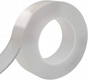 超強力 両面テープ 何度でも 貼ってはがせる 透明テープ(1M)