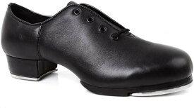 練習 レッスン に最適 クラシック レディース タップ ダンス レザー シューズ 女性 社交 靴 24cm(d 24cm)