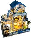 ミニチュア ハウス ドール LED クリスマス 誕生日 プレゼント 子ども DIY 家 家具 手作り キット おもちゃ ミニチュア…