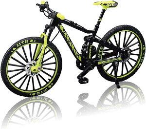 morytrade 自転車 おもちゃ MTB マウンテンバイク 模型 ダイキャスト 1/10(ブラック/イエロー)