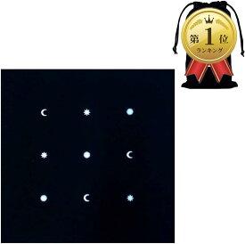 タロットクロス ベルベット ポーチ タロットカード用クロス 占いクロス 黒 星(黒 (星))
