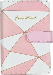 多機能ノート PUレザー メモ帳 ガールスタイル ピンクのかわいいシリーズ 空白 市松模様 ひし形 月額プラン 交換可能な内部ページ A6 ピンクシリーズ C MDM(ピンクシリーズ C)
