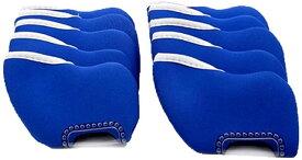 ゴルフ アイアン ヘッド カバー 番手 見える 窓 付 ソフト 素材 10個 セット 色 選べる(ブルー)
