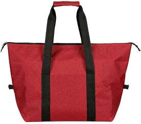 クーラーバッグ 保温 保冷 トートバック 大容量 防水 エコバッグ ショッピングバッグ アウトドア 5カラー(レッド, 小)